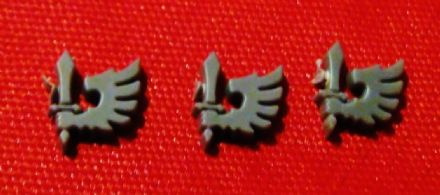 Ravenwing Small Icon Symbol set of 3 (left facing)